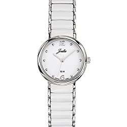 Joalia Women's Analogue Watch with White Dial Analogue Display and Stainless steel plated Bicolour - 631143