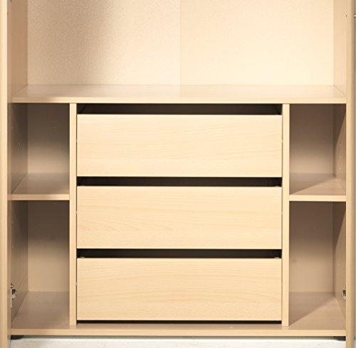 Cassettiera interna per armadio Level1 colore Faggio cm L80