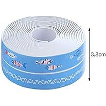 Tira de masilla autoadhesiva impermeable de la bañera, pegatinas de la costura del fregadero de