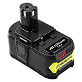 Reoben 18V 5,0Ah Lithium-Ion Batterie Remplacement pour Ryobi 18V ONE + P108 P102...