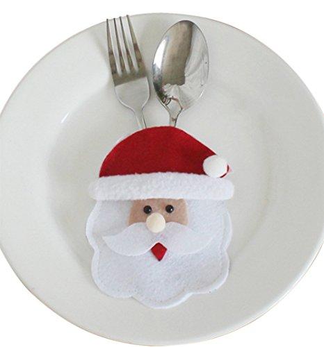 Laat - sacchetti natalizi portaposate, a forma di babbo natale / pupazzo di neve / alce, #1, 15 x 10cm