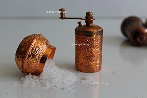antik salzmühle, Salzmühle und Gewürzmühle, pfeffermühle, kaffeemühle, coffee grinder, pepper grinder (shiny kupfer) (Antike Kaffeemühle)