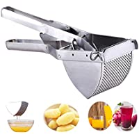 YOSTAR Potato Ricer Stainless Steel Potato Masher, Solid Potato Press Food Strainer Vegetable Fruits Pureeing and Juicing Maker