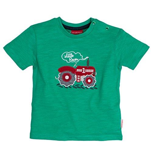 SALT AND PEPPER Baby-Jungen B T-Shirt L. Farm Uni Traktor, Grün (Green 650), 80