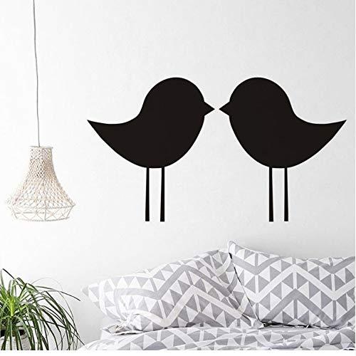 Simple Grand Contour Grande Taille Personnalisé Couleur Sticker Mural Mignon Embrasser des Oiseaux Murale De Vinyle Art Chambre Tête De Lit Décor Papier Peint 104 * 58CM