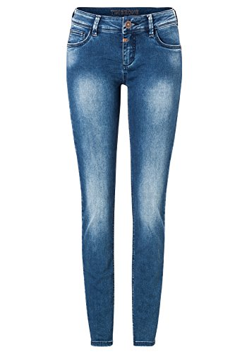Timezone Damen Skinny Jeans Tight Aleena Blau (Bright Blue Wash 3151)