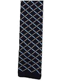 Cravate slim pour Homme motifs géométriques bleue