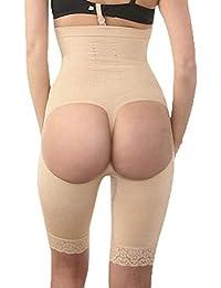 DDJX Pantalones Moldeadores Fajas Cintura Alta Cadera Elevación Pantalones De Cadera Postparto Flaco Cuerpo Muslo Formando Bragas De Mujer Braguitas Moldeadoras (S-3XL)