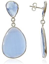 Córdoba Jewels | Pendientes en plata de Ley 925 con piedra semipreciosa. Diseño Luxury Montana