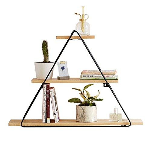 CS Triangle simple accrochant mur fleur Rack Iron Art multifonctions salon TV fond mur étagère