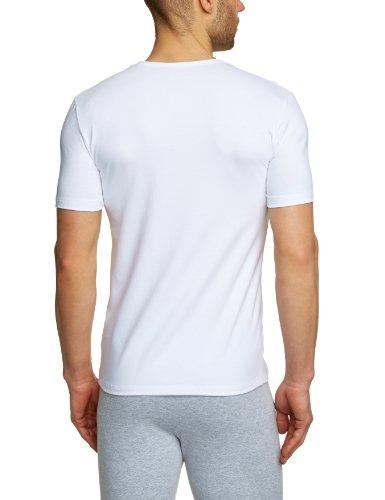 Huber Herren Unterhemd Mike Shirt Kurzarm Weiß (Weiss 0500)