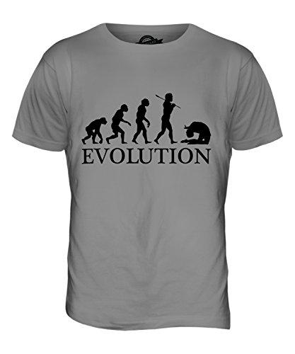 CandyMix Acro Evolution Des Menschen Herren T Shirt Hellgrau