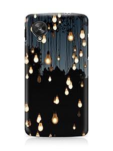 Loister Multi Bulb Mobile Cover Compatible for Google Nexus 5 Printed Designer Cover