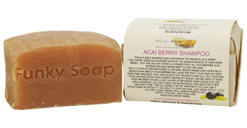 1 pièce superbe Acai Berry Barre De Shampooing 100% Naturel Fait Main aprox.120g