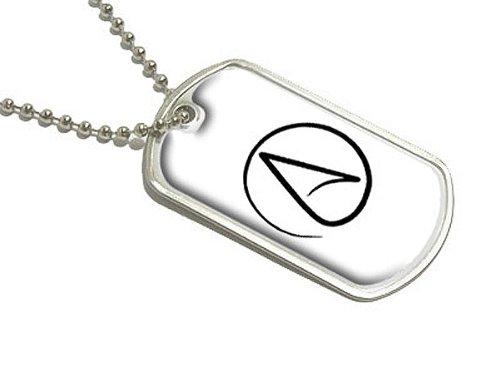 Atheismus Symbol–Atheist–Schwarz auf Weiß–Militärische Erkennungsmarke Gepäck Schlüsselanhänger