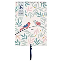 Busy B Couples Calendar January to December 2020 - Birds Design Planner for Two with Monthly Pockets & Stickers