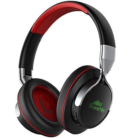 Mixcder Casque avec micro et suppression de bruit Bluetooth 4.1 Techonologie ShareMe 7 Écouteurs de casque pliables Parfait pour musique avec basses profondes/chaîne hi-fi, 18 heures de temps d