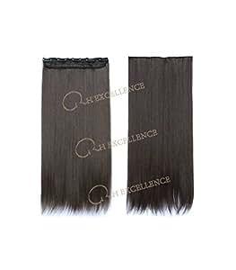 Extension a Clip Mono-Bande - Châtain doré N°2 - Extension cheveux - RH : N°2 Châtain doré / Majirel : N°4.3, 60
