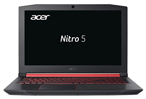 Acer Nitro 5 (AN515-52-53TW) 39,6 cm (15,6 Zoll Full-HD IPS matt) Gaming Notebook (Intel Core i5-8300H, 8GB RAM, 1.000GB HDD, 128GB SSD, NVIDIA GeForce GTX 1050, Win 10 Home) schwarz/rot 15,6-zoll-entertainment-notebook-pc
