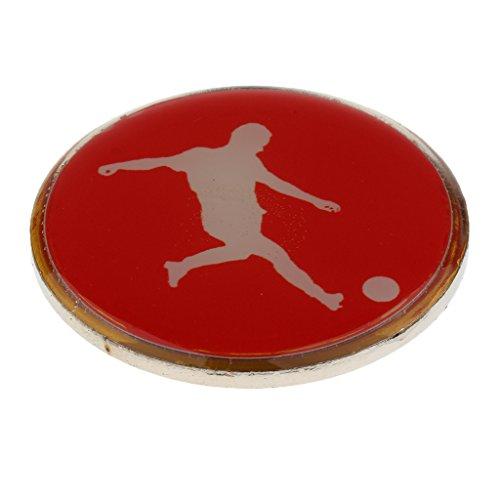 Baoblaze Fußball Schiedsrichter Wählmarke, blau/rot