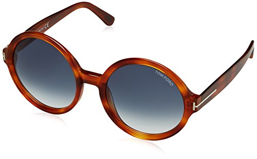Tom Ford Sonnenbrille FT0369_PAN_56W (55 mm) Havana, 55 (Tom Ford Brille Runde)