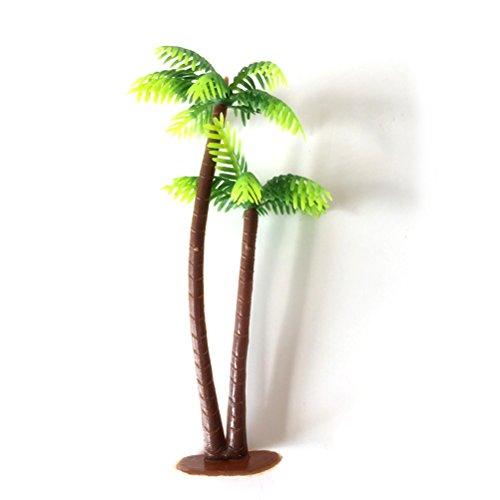Tinksky 5 Pcs En Plastique Cocotier Palmier Miniature Plante Pots Bonsa/ï Artisanat Mini Paysage Paysage BRICOLAGE Poup/ée Maison R/ésine D/écoration