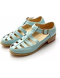 Señoras sandalias, tacones bajos, cómodos home Zapatos, sandalias, tamaño grande Señoras,blue,42