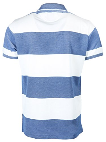 GANT Herren Poloshirt Four-Color Oxford Stripe Rugger Blau