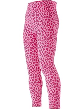 Playshoes Mädchen Leggings Lang Leopardenmuster Rosa/Pink