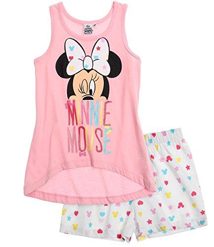 Disney Minnie Chicas Pijama mangas cortas - Blanco - 128