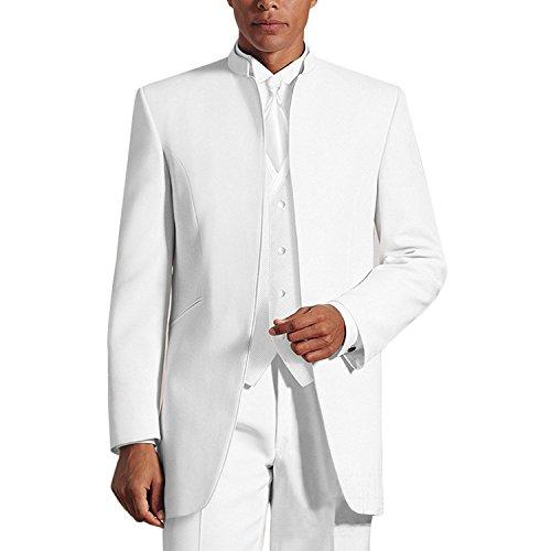 Lilis® Herren 3 Stücke Hochzeit Anzüge Reines Weißes Kragen Dreiteilige Smoking Anzüge