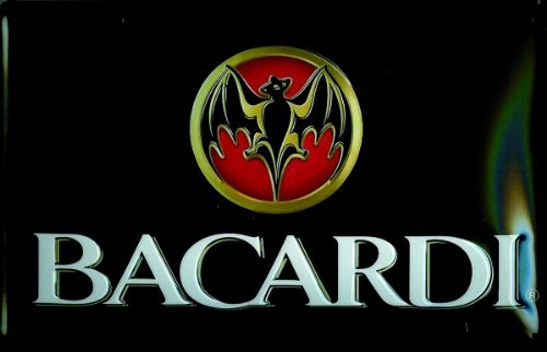 plaque-alu-artdeco-logo-bacardi-querfomat-300-x-200-mm
