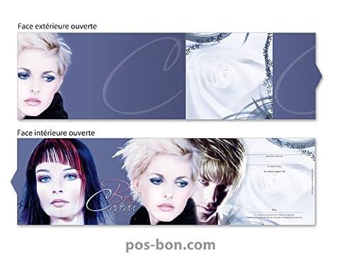 25 Bons cadeaux booklet K701F pour coiffeurs