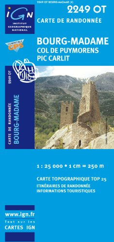 Bourg Madame / Col Puymorens gps (Ign Map) por Institut Geographique National