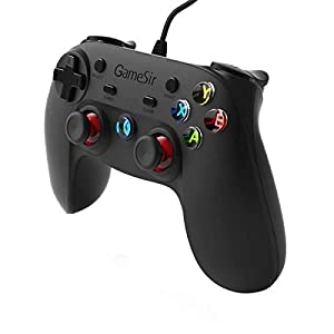 Wire Game Controller Gamepad, GameSir USB Game Controller Gamepad Joystick für PS3 & Android & Windows (7,8,8,1,10)