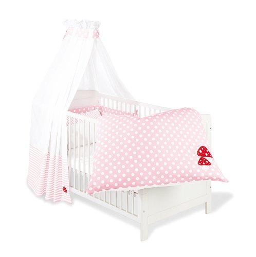 60969-7 - Set für Kinderbett, 4-tlg., 'Glückspilz' rosa