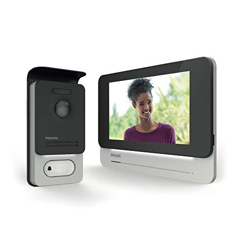 Philips 531001 Visiophone Tactile qualité d'image/Haut Niveau de sécurité, Noir, 7'