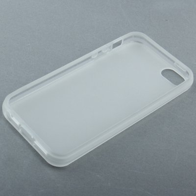 Mobiltelefonhülle - qyg q-case hohe qualität transparent gefrostet tpu - schutz bei schlüssel für iphone 5 - 5s & se ( SKU : S-IP5G-0405T ) S-IP5G-0405T