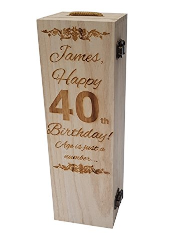 Personalised Engraved Wooden Wine Gift Box
