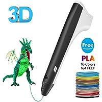 Tecboss Penna 3D, 3D Penna Stampa Per Bambini Compatibile con Filamento PLA Grande Regalo per Bambini Adulti artista