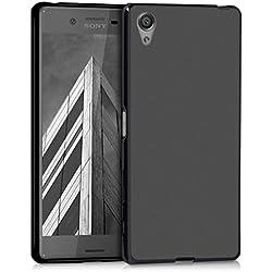 kwmobile Coque Sony Xperia X - Coque pour Sony Xperia X - Housse de téléphone en Silicone Noir Mat
