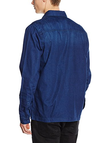 New Look Indigo Denim, Chemise Casual Homme Bleu - Bleu marine
