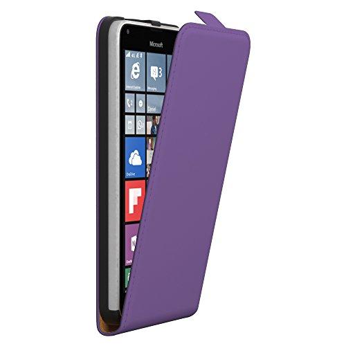 PREMIUM - Flip Case für - Nokia Lumia 535 - Wallet Cover Hülle Schutzhülle Etui Tasche Schwarz Lila (Flip)
