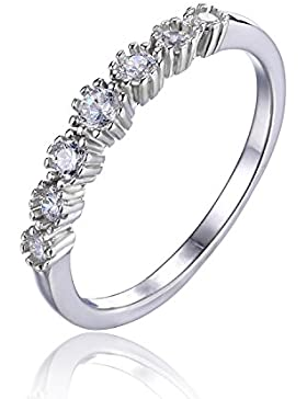 JewelryPalace Unendliche Infinity Zirkonia Mond Band Ring Verlobungsringe Trauringe Damenring Hochzeitsring 925...