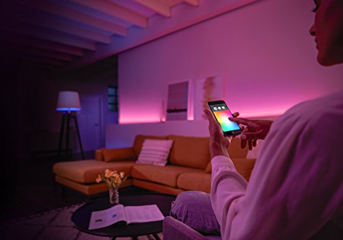 Philips Hue White and Colour Ambience Wireless Lighting E27 Edison ...