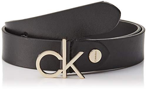Calvin Klein Damen 3CM Low CK ADJ.Buckle Belt Gürtel, Schwarz (Black 001), 6661 (Herstellergröße:100) (Damen Designer Gürtel)