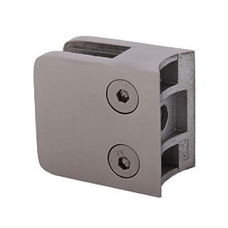 Edelstahl Glashalter quadratisch 45/45 mm für Rohre mit Durchmesser 42,4 mm - geeignet für Glasstärke: 8,00 mm (S071208-8)