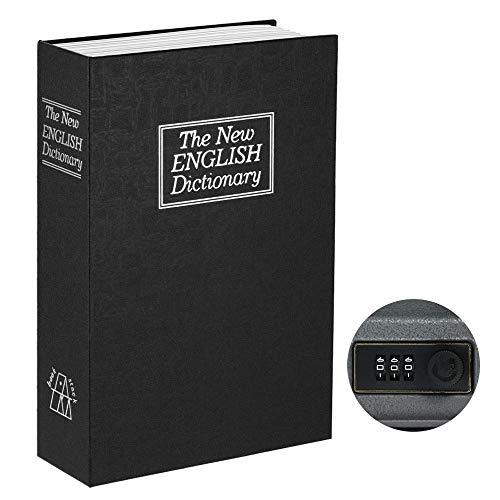 Blusea Sicherheit versteckte Box mit Zahlenschloss Englisch Wörterbuch Diversion Buch Safe Money Schmuck Passport Wertsachen Aufbewahrungsbox - rot, klein