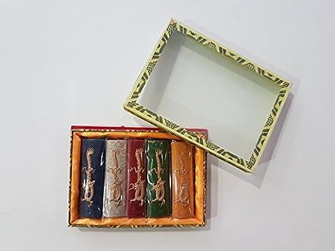 5 x 31 g chinesische Reibetusche in fünf verschiedenen Farben in Geschenkbox EMI Craft (Craft Geschenkboxen)
