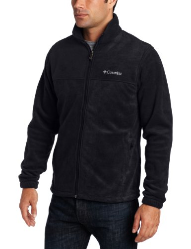 Columbia Mens Big & Tall Extended Steens Mountain Full Zip 2.0 Fleece Jacket Black